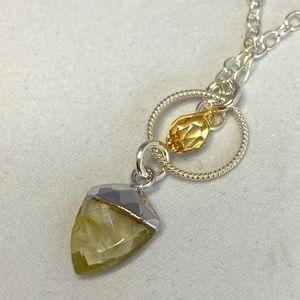Rhema Jewels SWARVOSKI Golden Quartz Neckalace